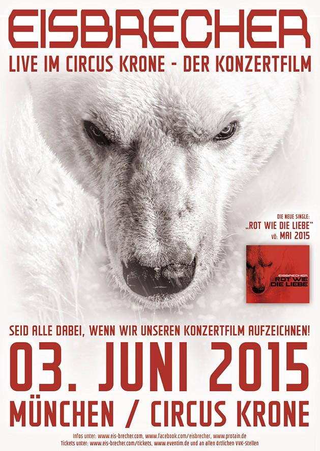 Eisbrecher drehen Konzertfilm am 3.6. in München