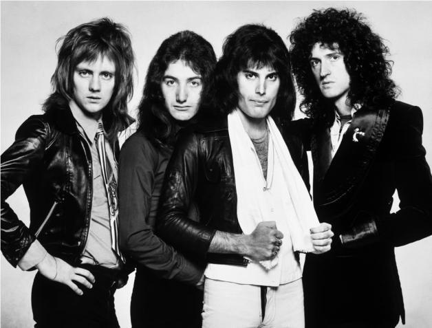 Queen Rockband mit Sänger Freddie Mercury